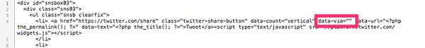 WordPress[Stinger3] Twitterメンション設定