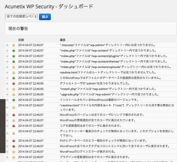 WordPress[Acunetix WP Security] 基本的なセキュリティー対策と脆弱性対策